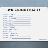 12 Commitments for One Magnificent Life!