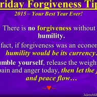 Forgiveness Tip Time – Humility
