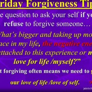 Forgiveness Tip Time – Release the Burden!