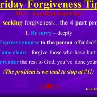 Forgiveness Tip Time