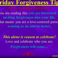 Forgiveness Tip Time – Celebrate YOU!