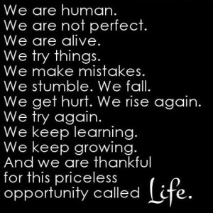 Being thankful for life and grateful for mistakes
